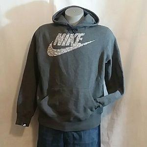 Nike Mens Gray Sweatshirt Lined Hoodie Shirt